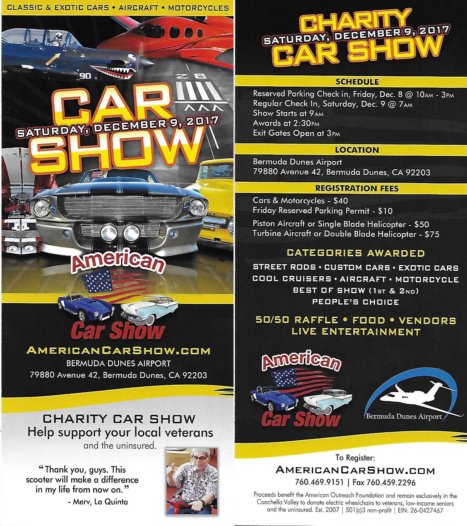 Projects Of Coachella Valley Lions Club - Bermuda dunes airport car show